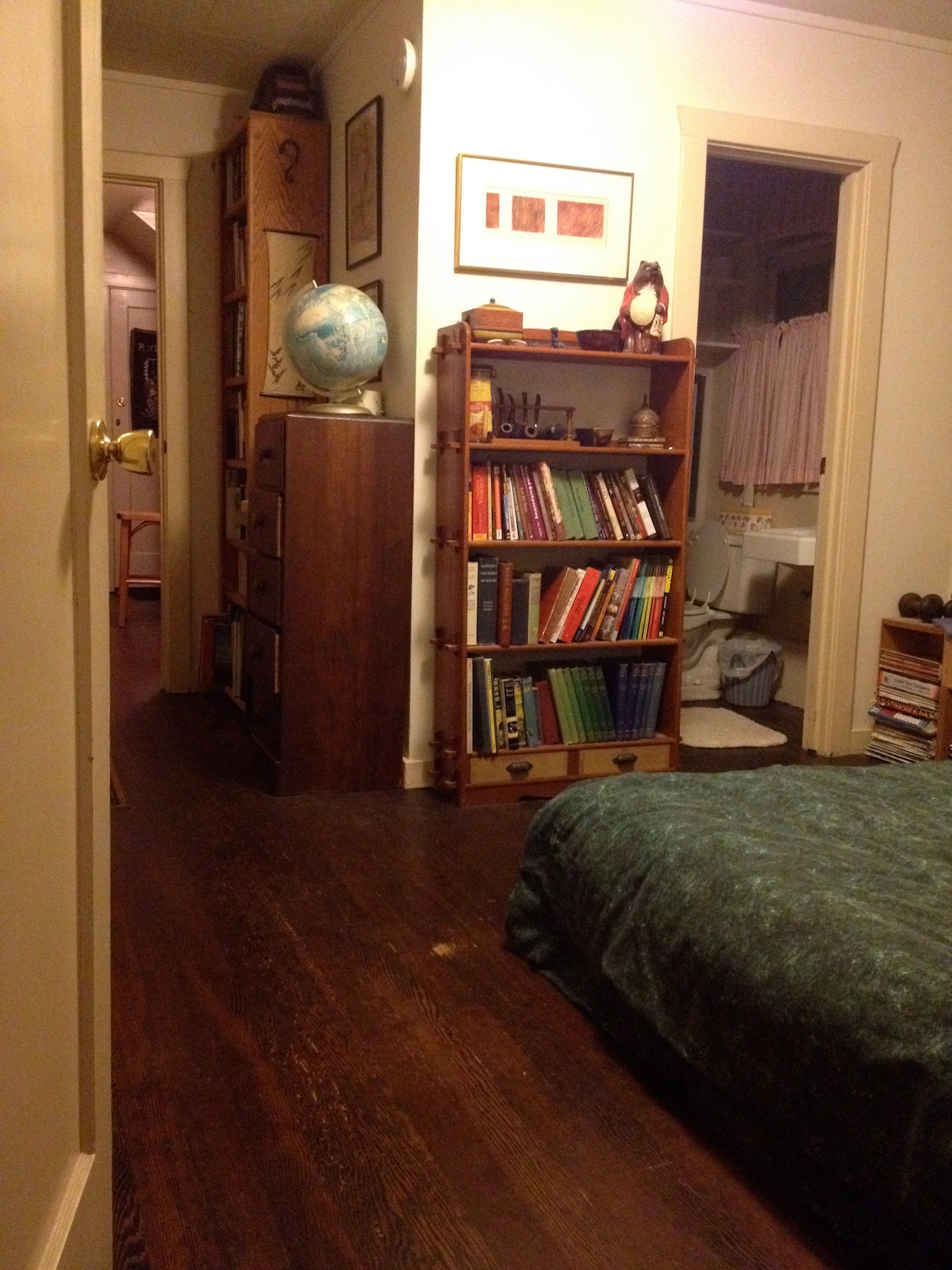 Pass through my tidy bedroom to get to the bath or kitchen...