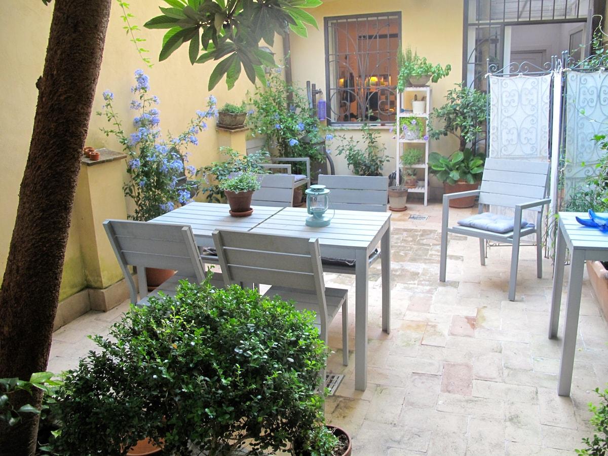 Lovely  apt  with garden in Rome
