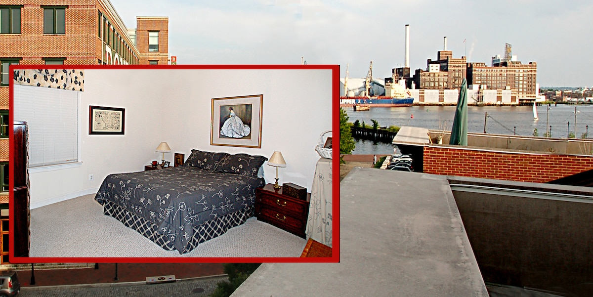 Enjoy a magnificent harbor view while sipping wine or enjoying your morning coffee on the roof top deck