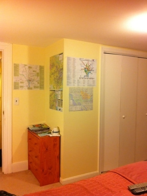 I posted a lot of local maps in the room for your convenience. I also prepared a lot of bus/train schedules.