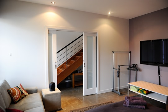 Double sliding door - from entry hall to your room. .