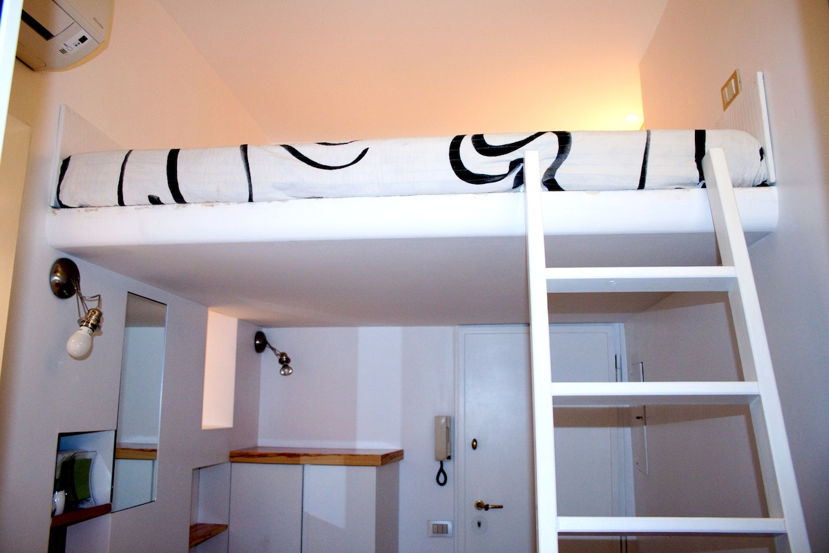 Ladder to the loft bed