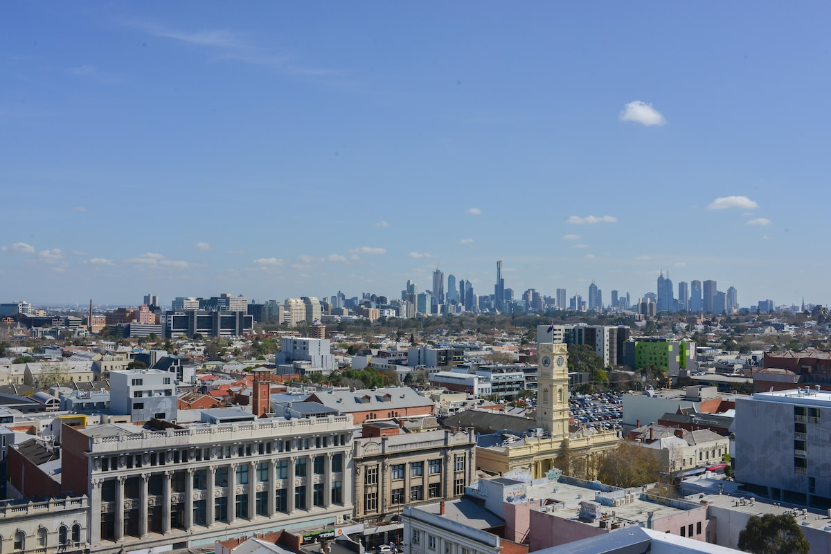 Views of Melbourne CBD from the rooftop