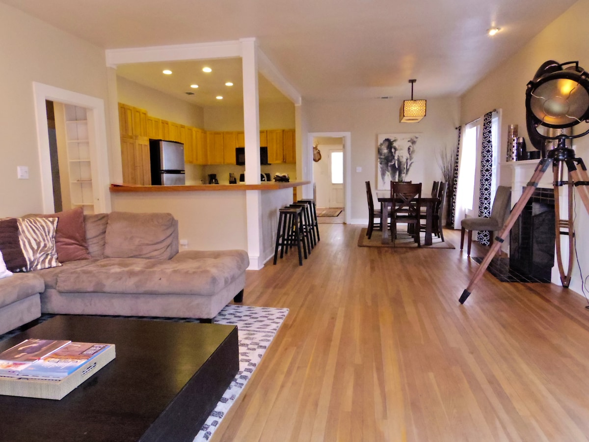 Open living/ dining/ and kitchen is ideal for entertaining. Hardwood floors throughout.