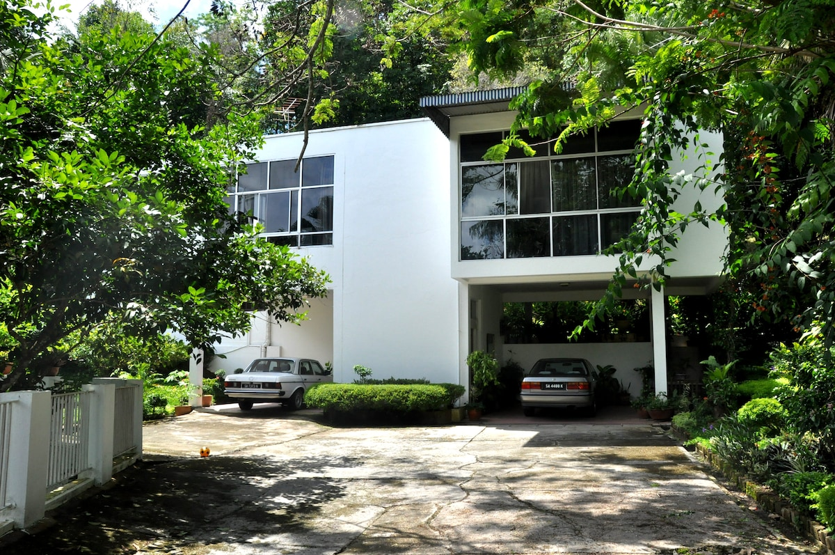 Main view of the villa. Check out our Brahminy Villa website for more details. Web search Brahminy Villa