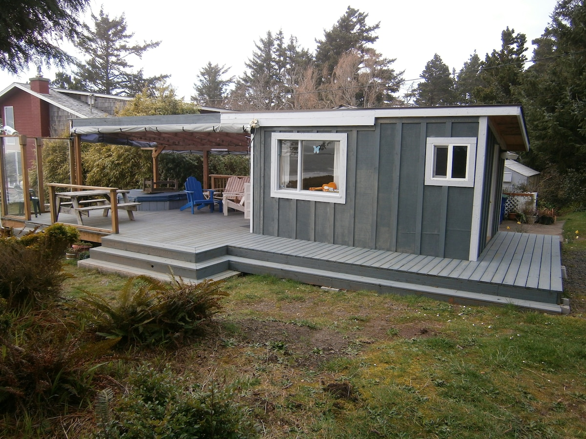 """Here is the Surf Shack, we advertise it as """"Yurt Style"""" cabin camping."""