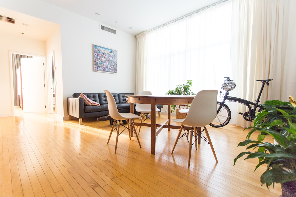 Bright and spacious 2 BR apartment