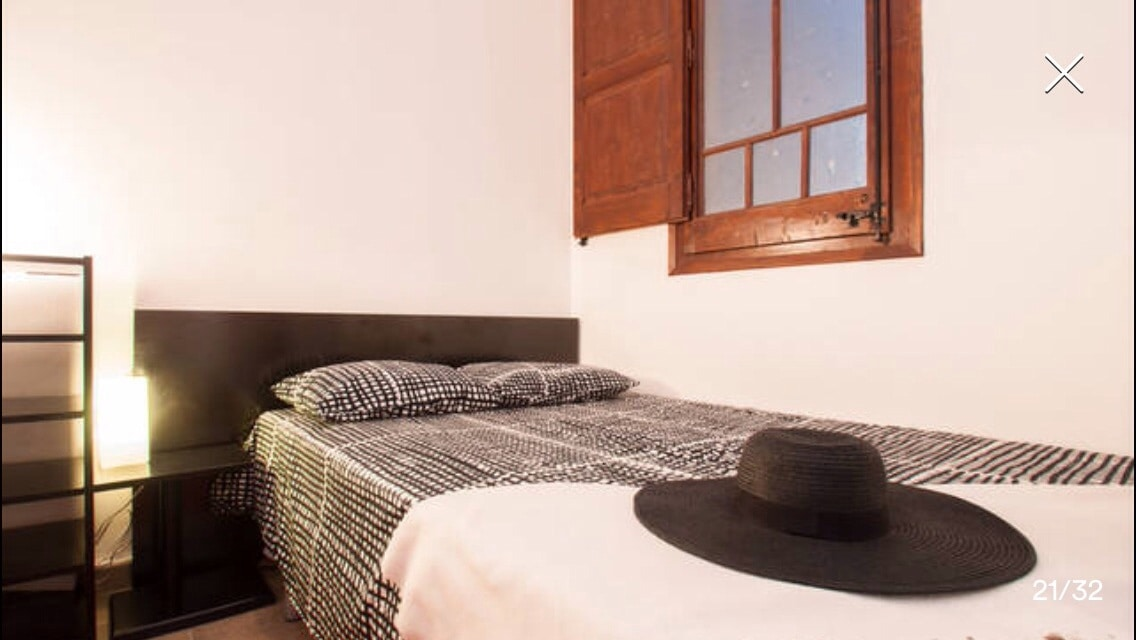 The second one (double room)