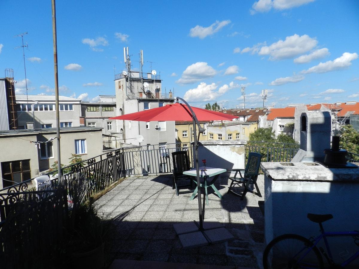 CENTRAL Cheap&HIP room+epic terrace
