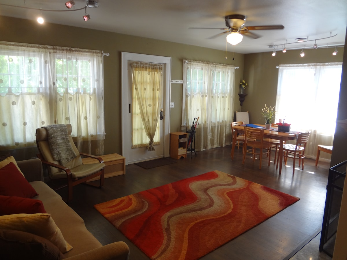 Another view of the living/dining room