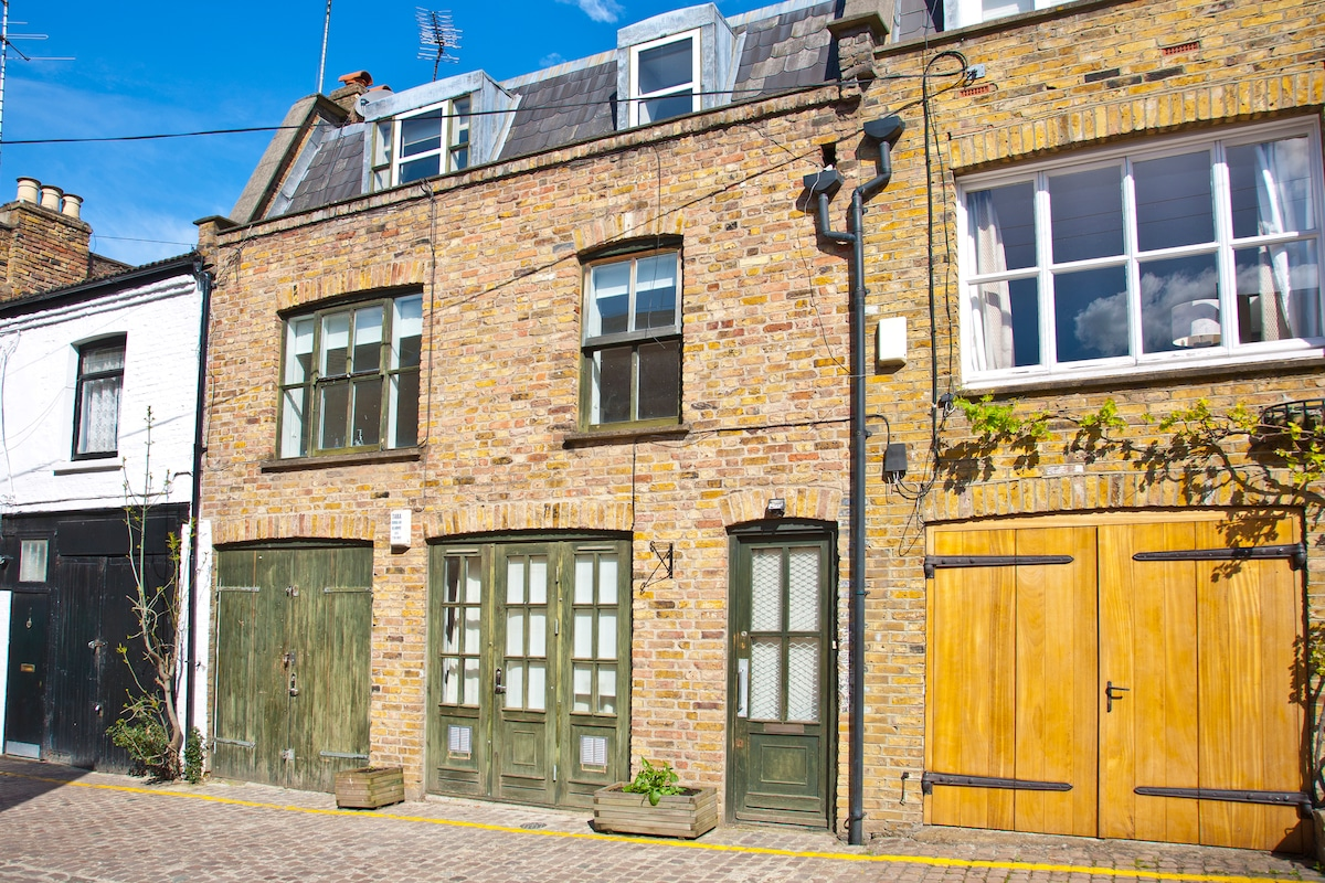 Front of the mews house - your bedroom is the one in the top right window