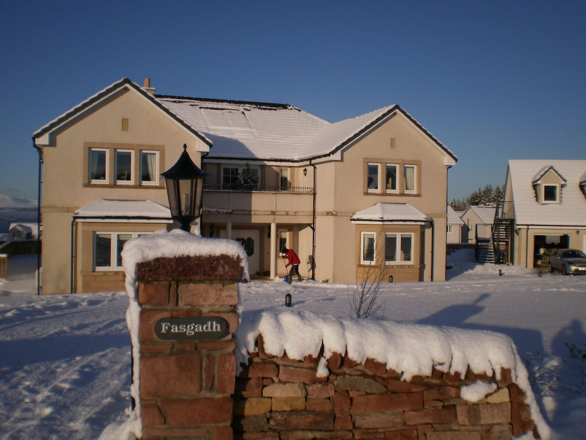 Front snow scene