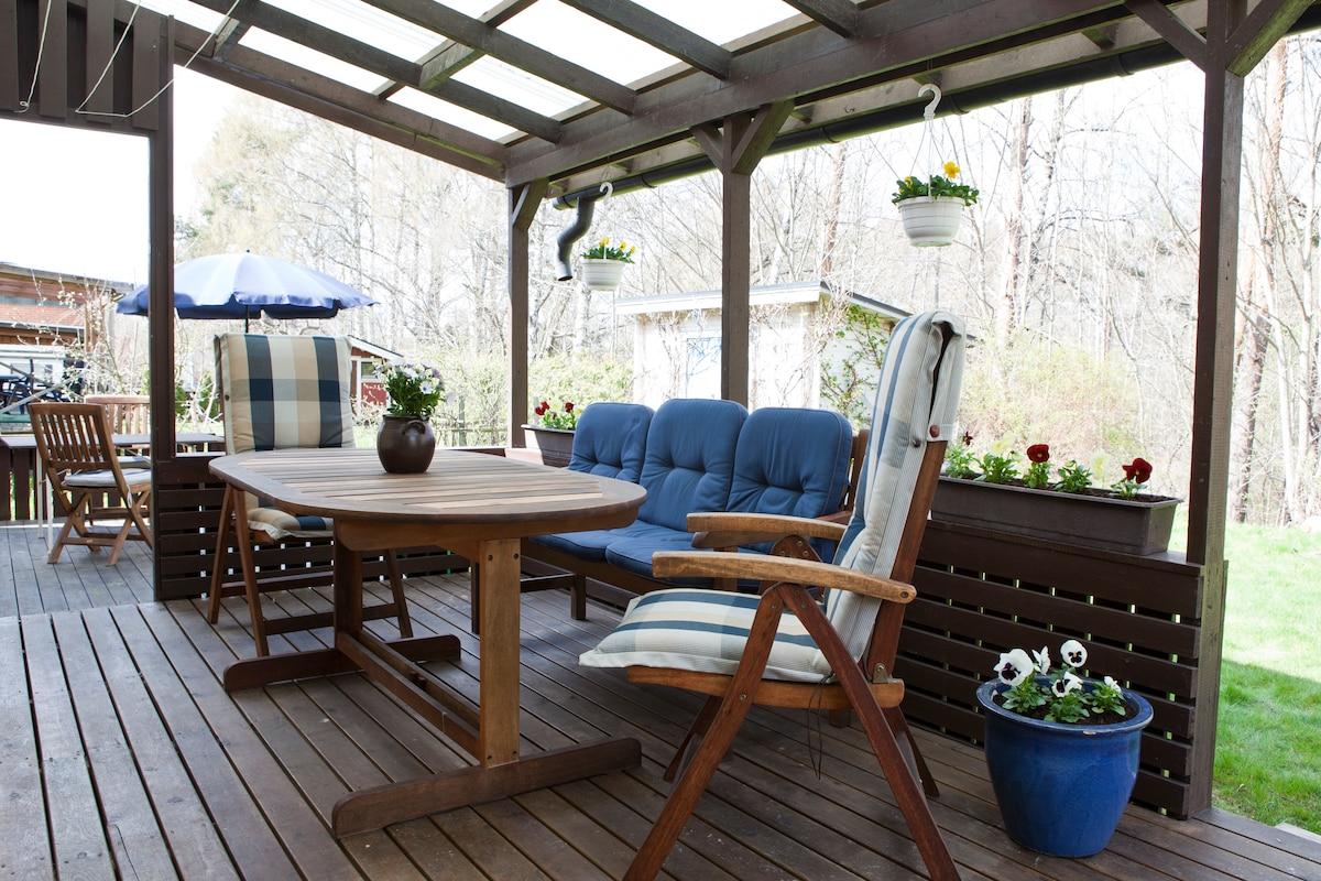 House & garden in Norrköping,Sweden