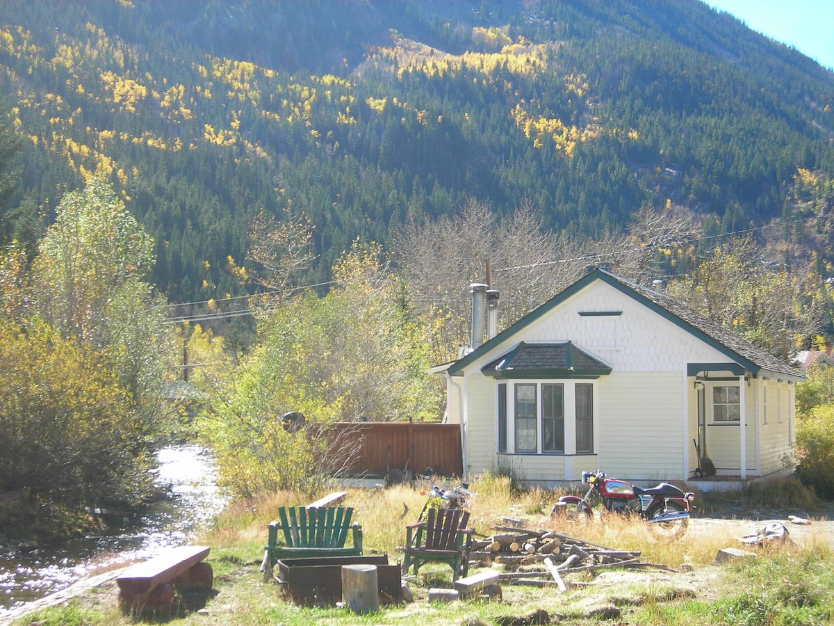 Creek house historic Silver Plume