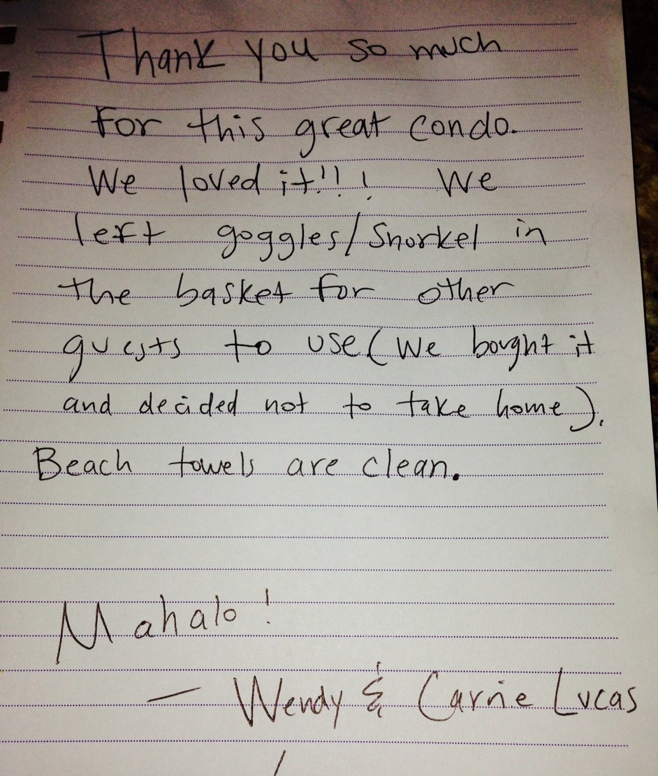 We strive to keep our guests Happy