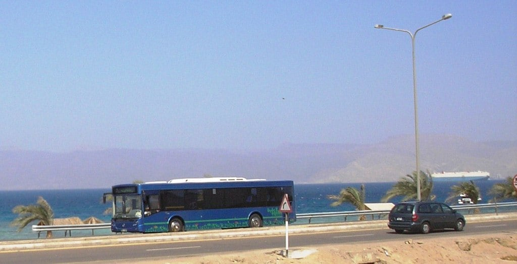 Public buses depart from Aqaba Castle (near the Big Flag) in every 30 minutes (cca)