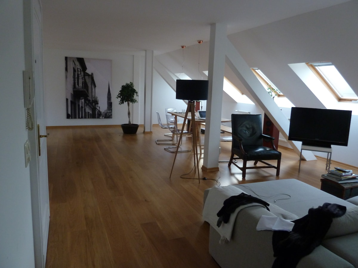 Superb stay in large attic/ Mitte!!