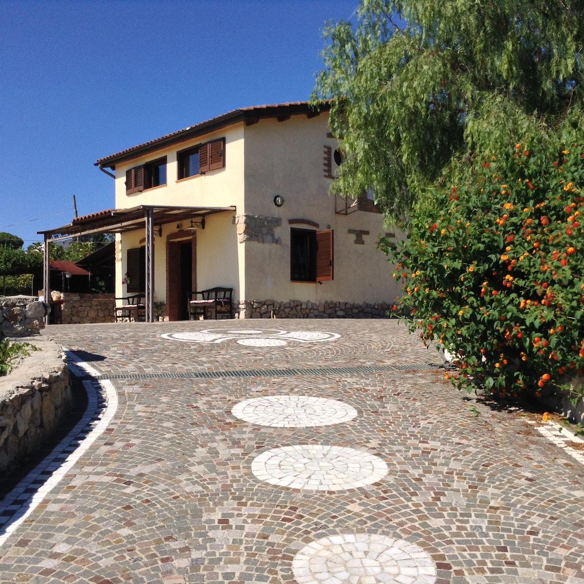 Villa Gizia sea view between Rom&Na
