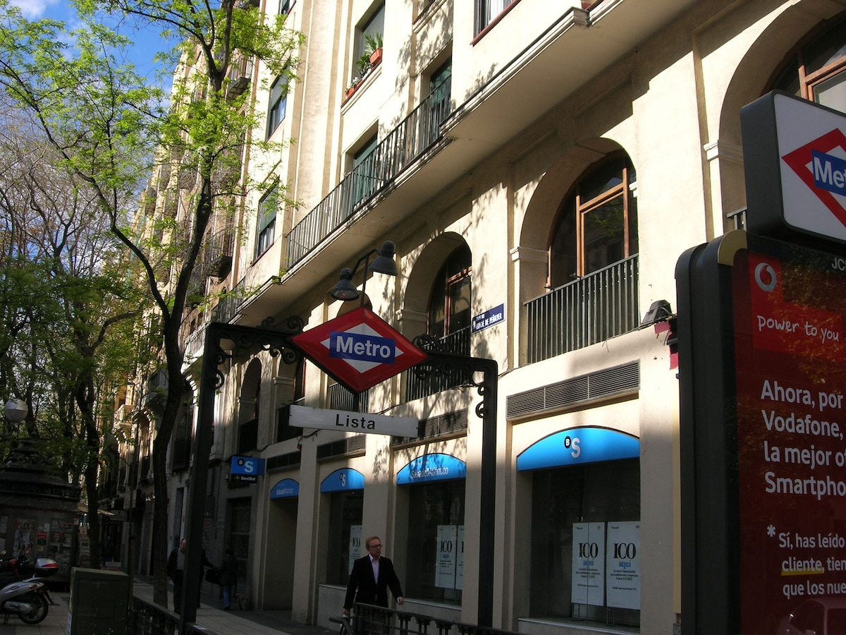 En C/Peñalver, salida Metro (lín.4) a C/Ortega y Gasset [o en foto a C/D.Ramón d la Cruz]