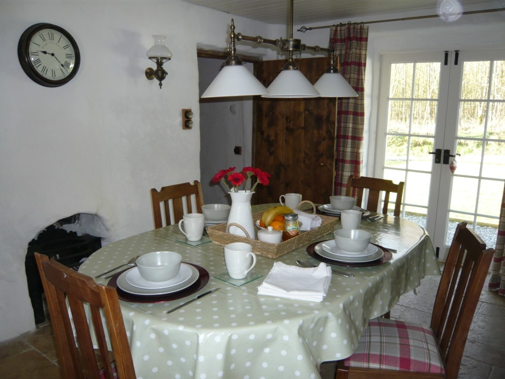 Dining Table - with French Door leading out to the garden