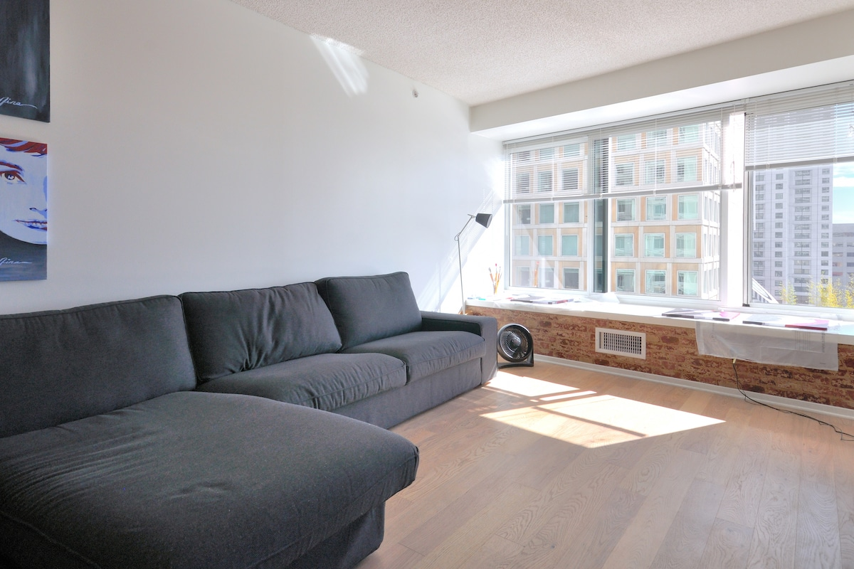 Modern 1 BD centrally located