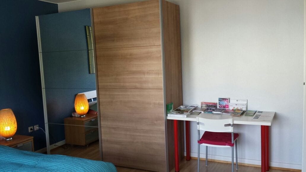 Large wardrobe and desk