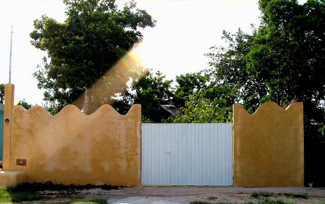 Front gate yellow wave entrance