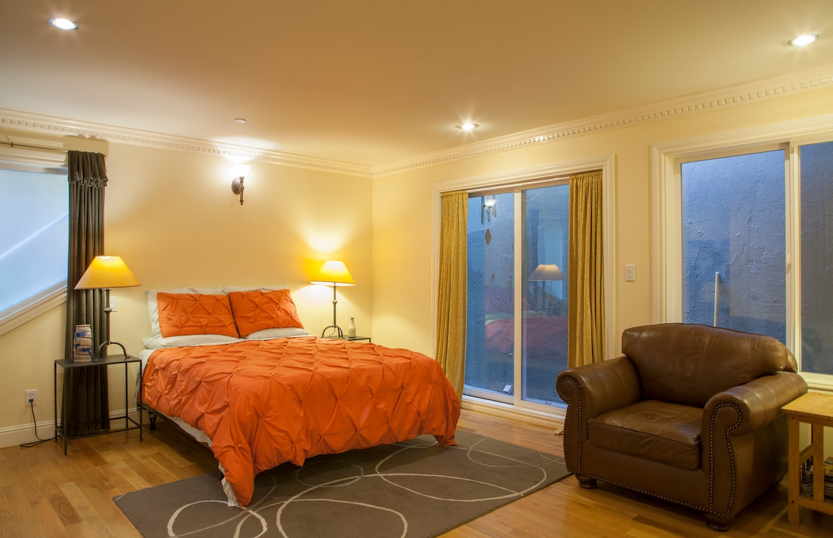 Your room. Brand new comfy queen sized bed as of Oct. 2014.