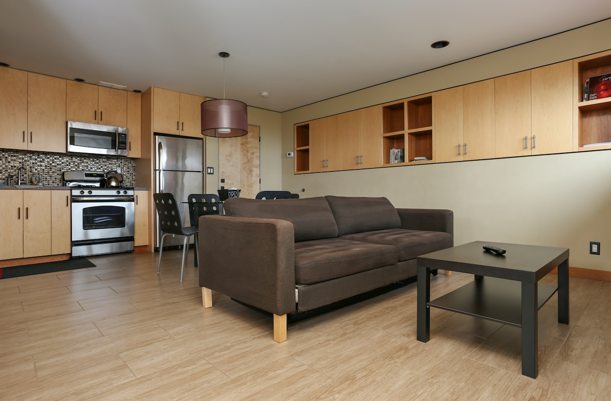 Modern and comfortable furniture.
