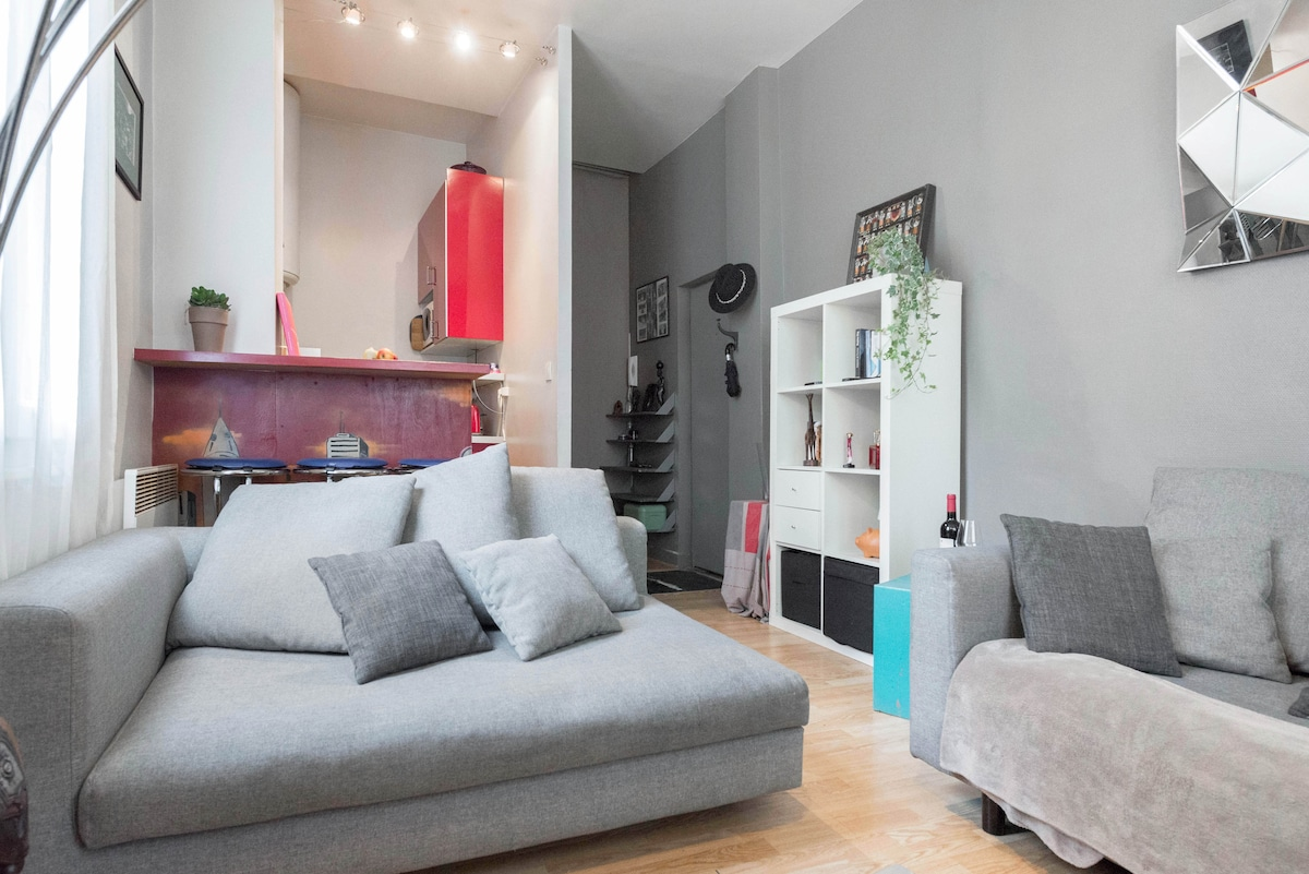 Cosy Home by the Canal Saint Martin