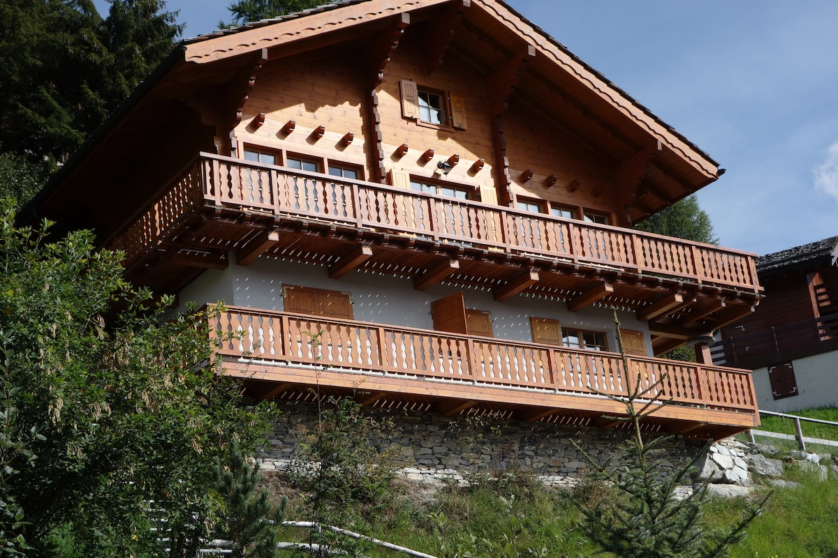 Wooden chalet with stunning view