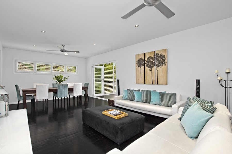 Living Dining Room and rear terrace