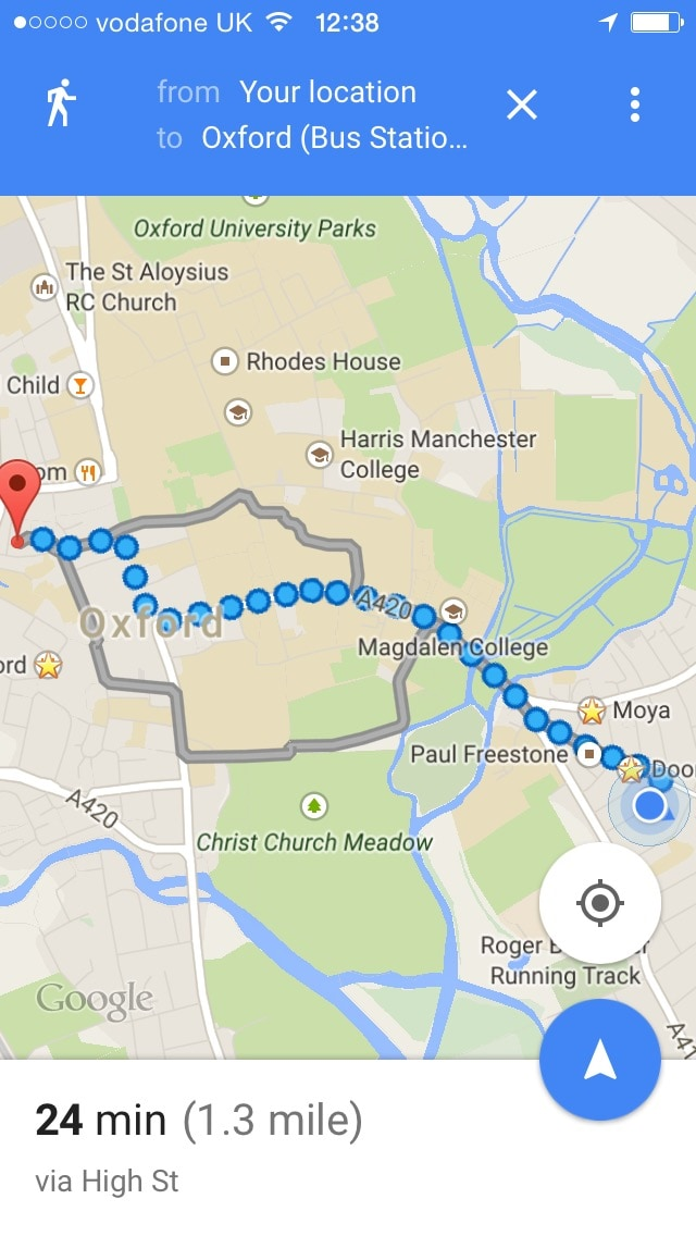 If you come from the Gloucester Green bus station you can catch the bus or walk to our house