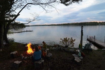 Nice Fire Pit Lakeside