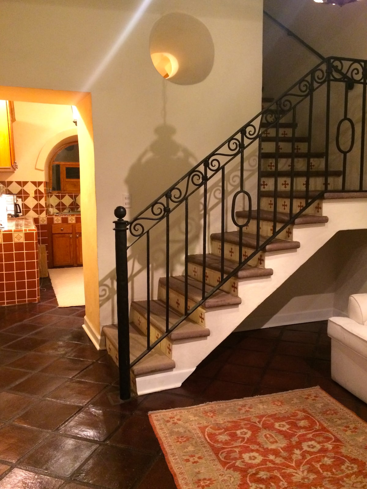 Entry to kitchen; Stairs to second level