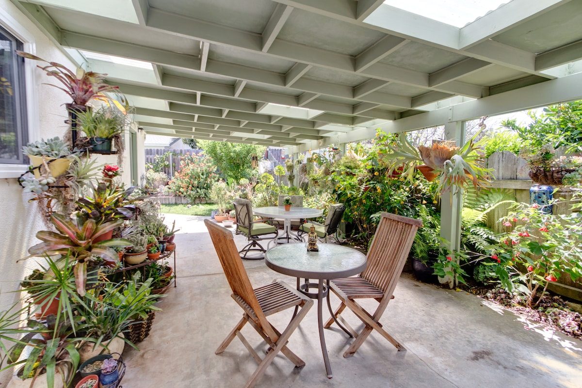 Enjoy your morning coffee or a glass of wine on your private patio.