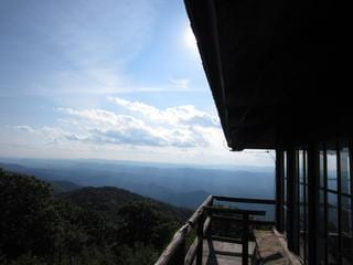 High Knob fire tower. A 15 minute drive then a 1.5 mile hike up to a 360 degree view of the Shenandoah Valley.