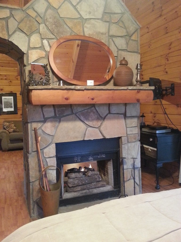 Fireplace from bedroom