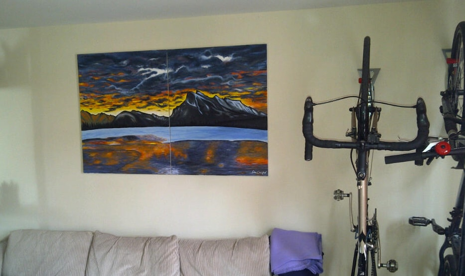 A recent painting I finished of a Whistler sunrise (acrylic on canvas)