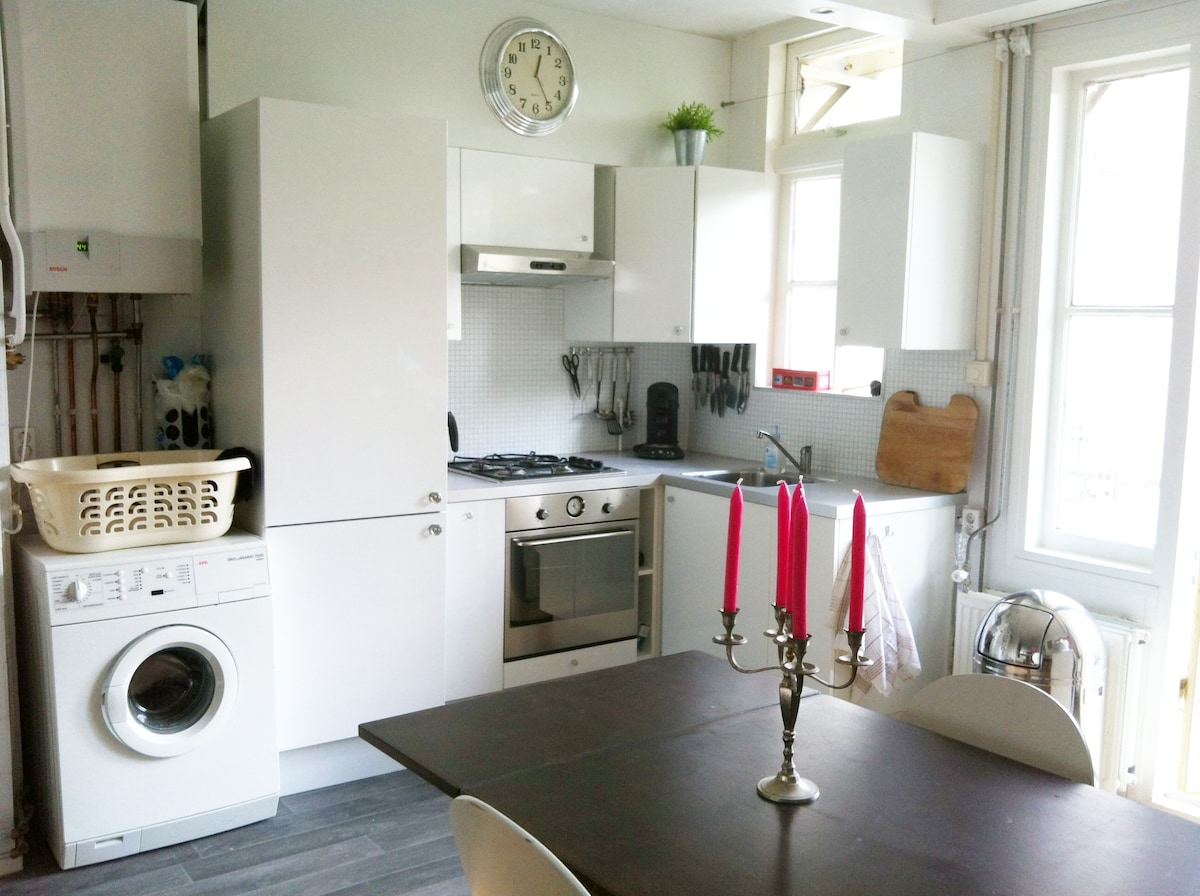 Fully equiped kitchen + large diningroom table