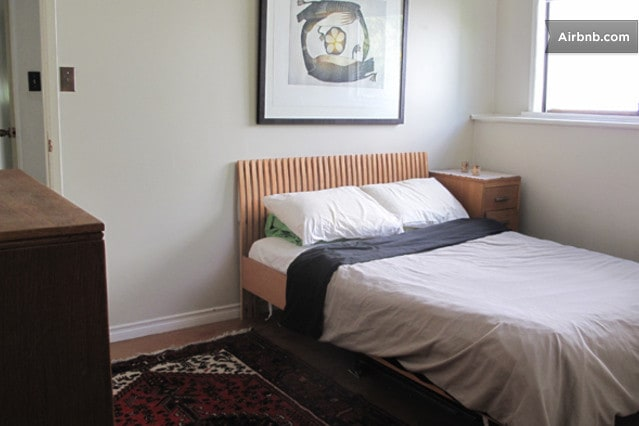 room with queen bed @ $70.+ airbnb fee