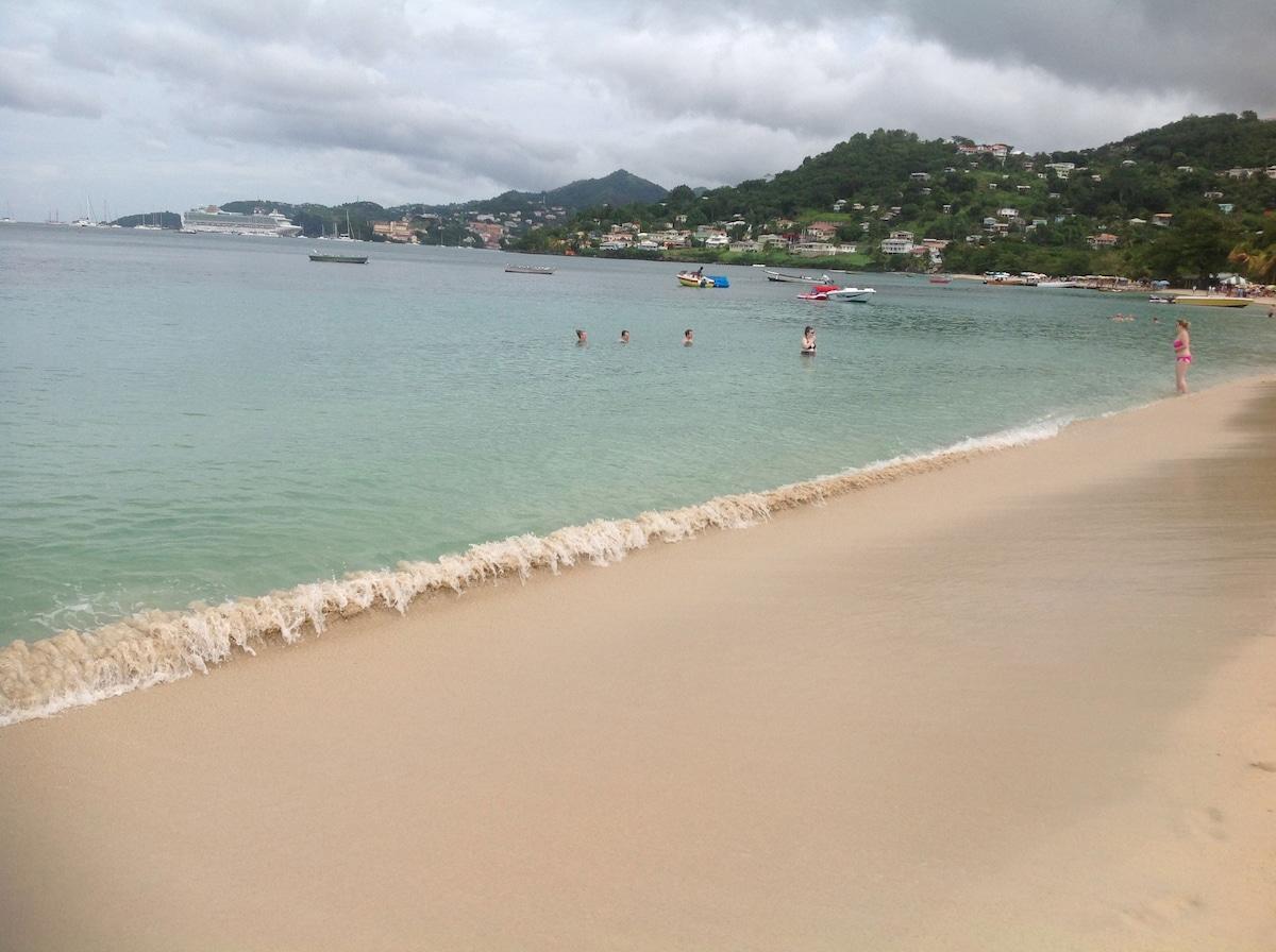 Walk to Grand Anse Beach
