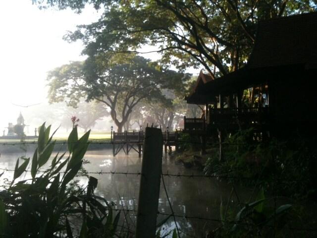 our village Lanna Lagoon on a winter morning