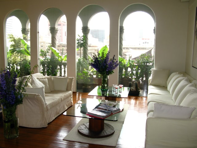 Living room and terrace