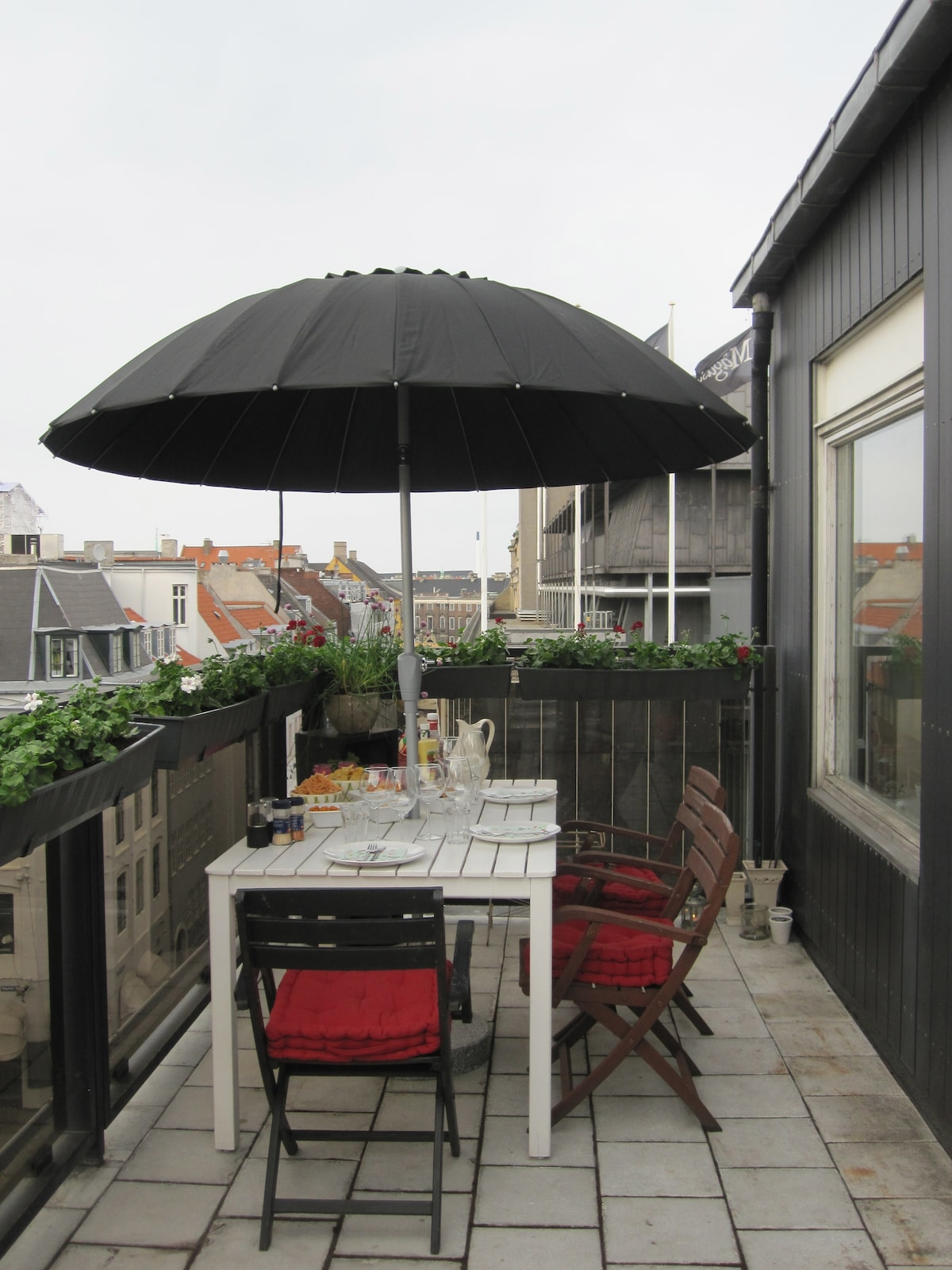 Ready for a barbecue with a view over the roofs of Copenhagen