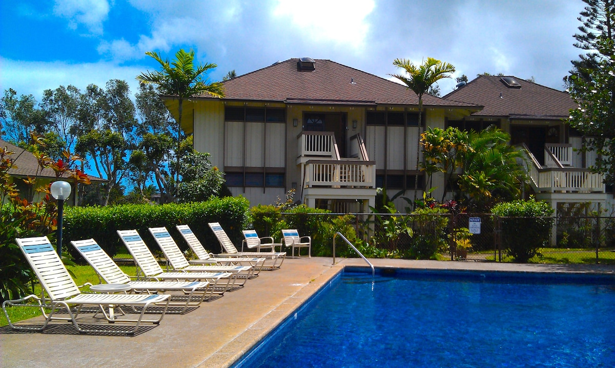 Your condo, overlooking the pool.