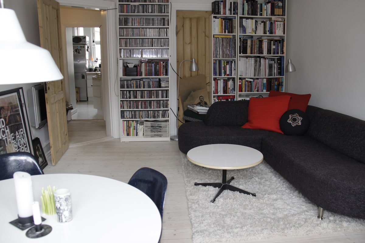 Cozy apartment on trendy Vesterbro
