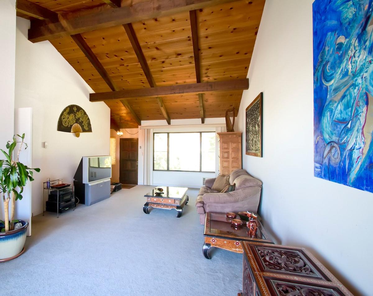 Living Room with beautiful ocean views.