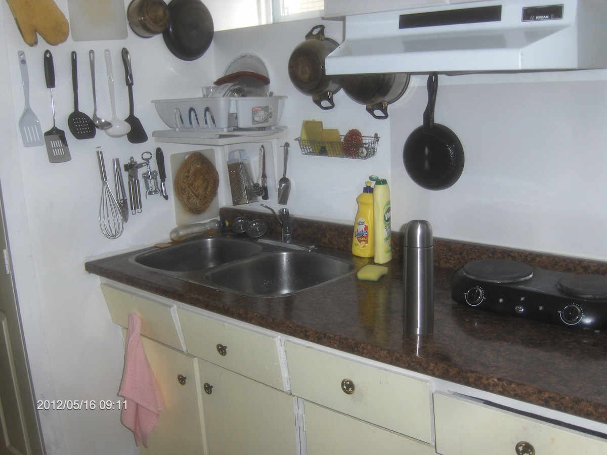 Furnished kitchen at the basement (shared).