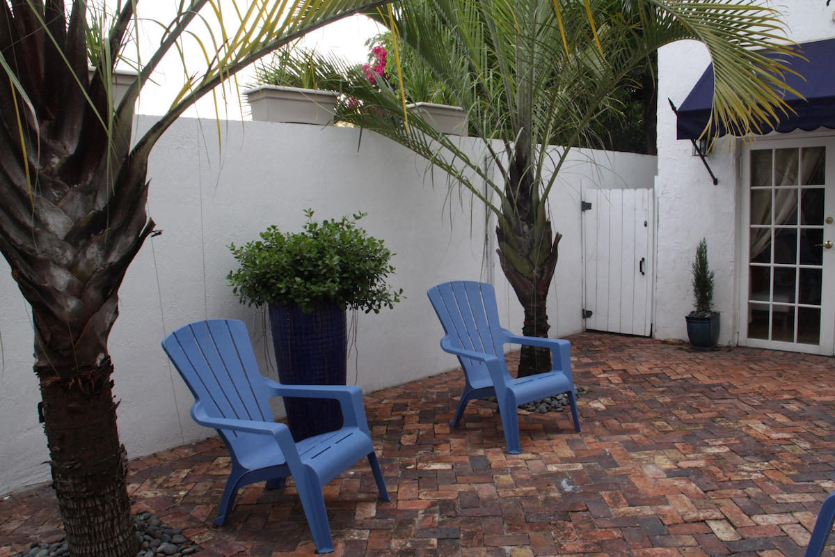 Enjoy your morning coffee while you relax in your private courtyard entrance.